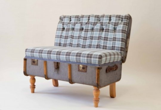 Furniture created from suitcases - Idea 8