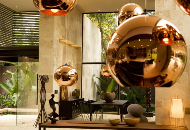 Gold as stylish element in the interior-11
