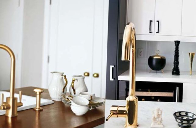 Gold as stylish element in the interior-14