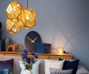 Gold as stylish element in the interior design