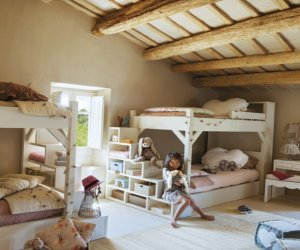 Gorgeous kids room in the attic