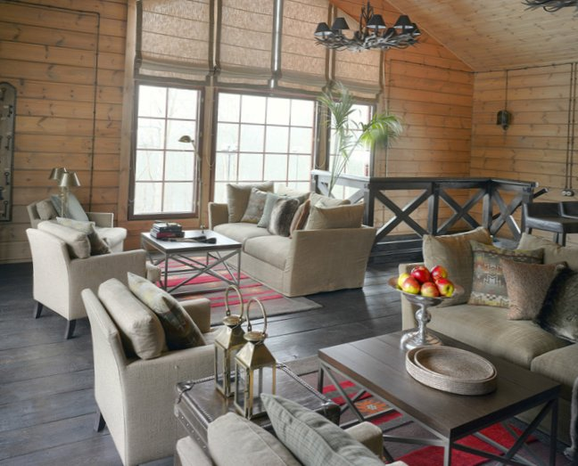 Great living room design in country house - 10