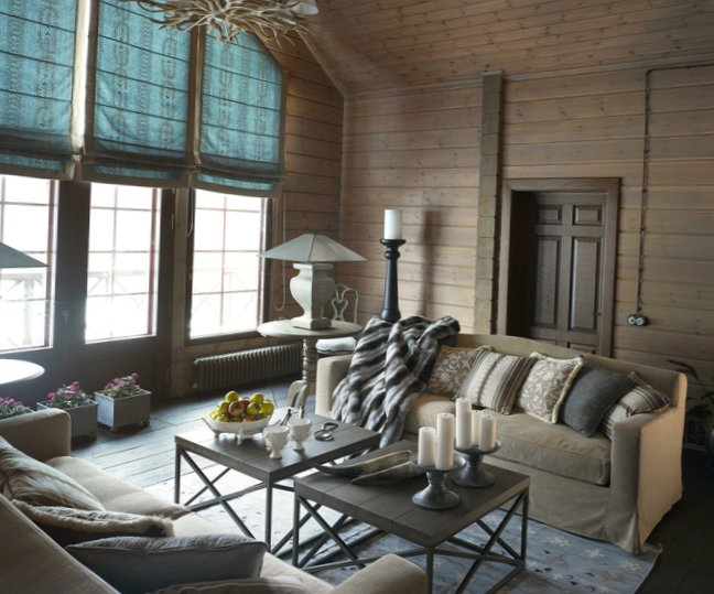 Great living room design in country house - 11