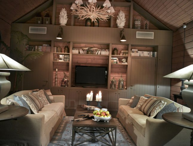 Great living room design in country house - 4
