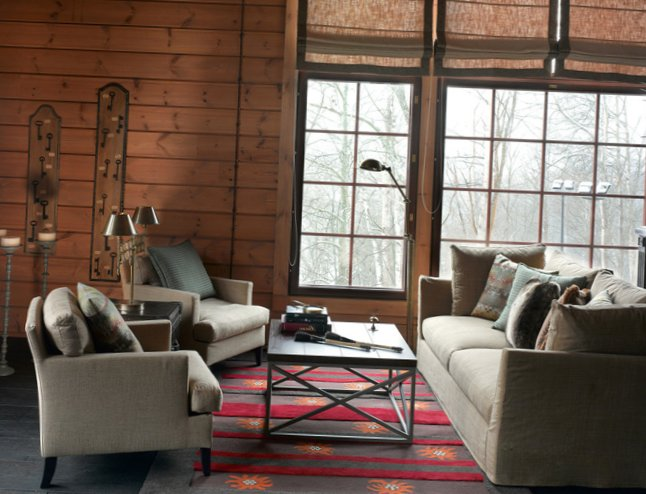 Great living room design in country house - 7