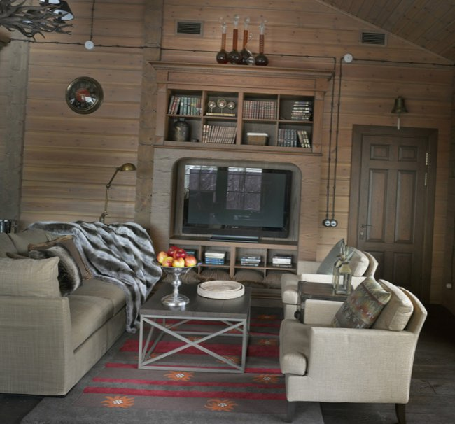 Great living room design in country house - 8