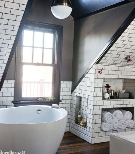 Men S Bathroom Design On The Attic My Sweet House