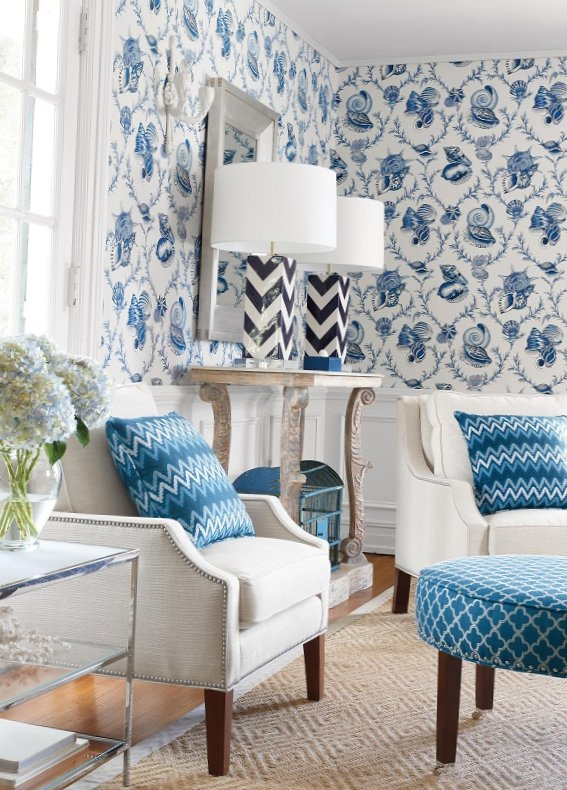 New collection of wall-paper from Thibaut-13