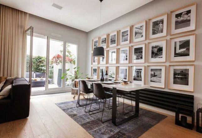Parisian apartment with a cozy veranda-10