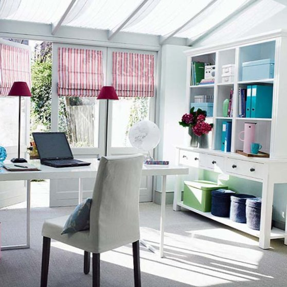 Several beautiful home offices-5