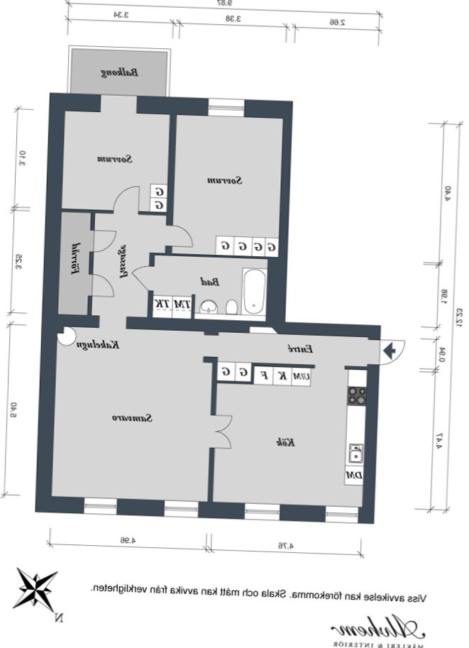 Stylish apartment in Gothenburg (102 sq m)-23