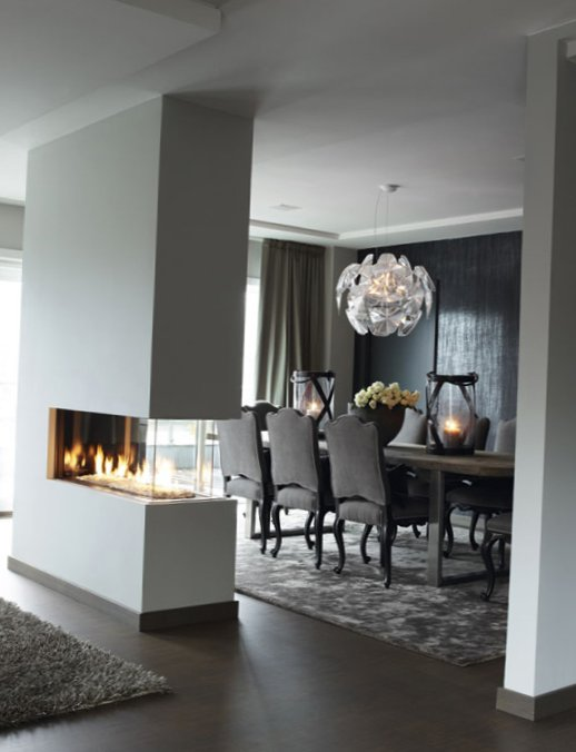 Stylish grey color in interior design in Norway 2