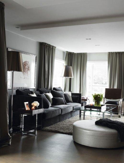 Stylish grey color in interior design in Norway 3