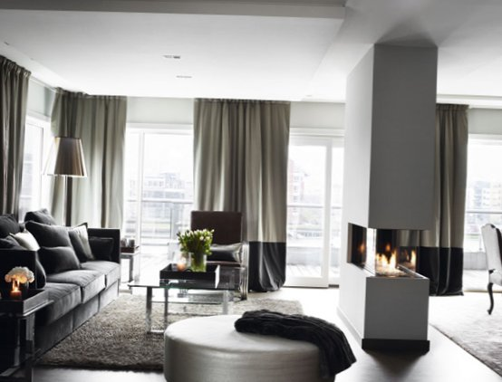 Stylish grey color in interior design in Norway 4