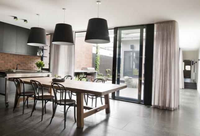 Stylish kitchen in black-1