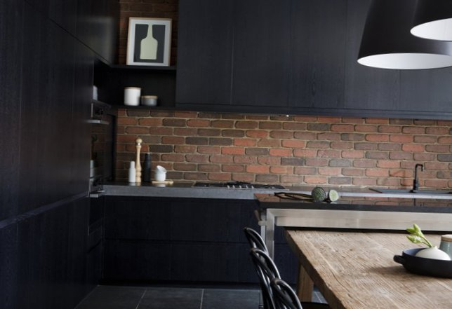 Stylish kitchen in black-2