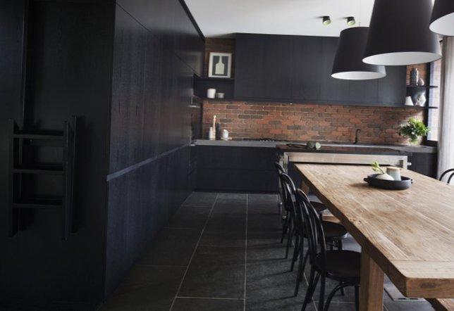 Stylish kitchen in black-5