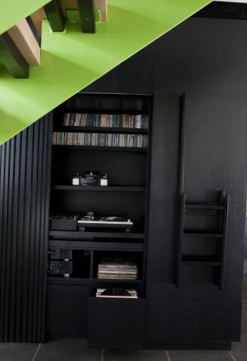 Stylish kitchen in black-6