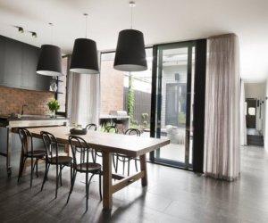 Stylish kitchen designed in black color