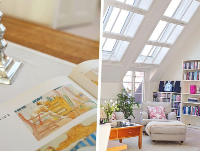 The apartment is located under the roof in Sweden-10