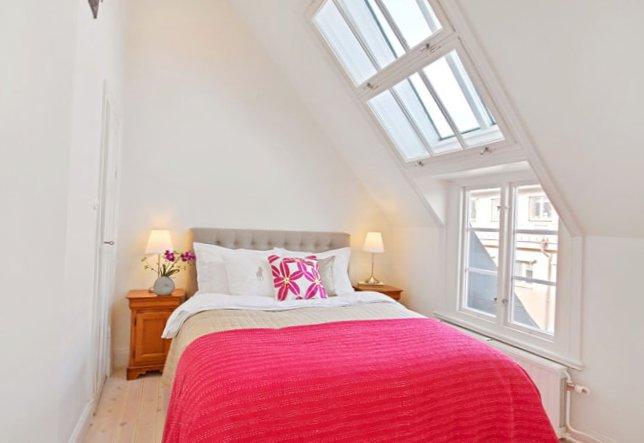 The apartment is located under the roof in Sweden-4
