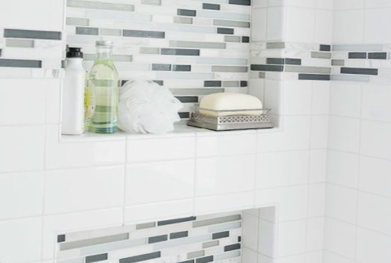 Tiny bathroom design - storage for accessories