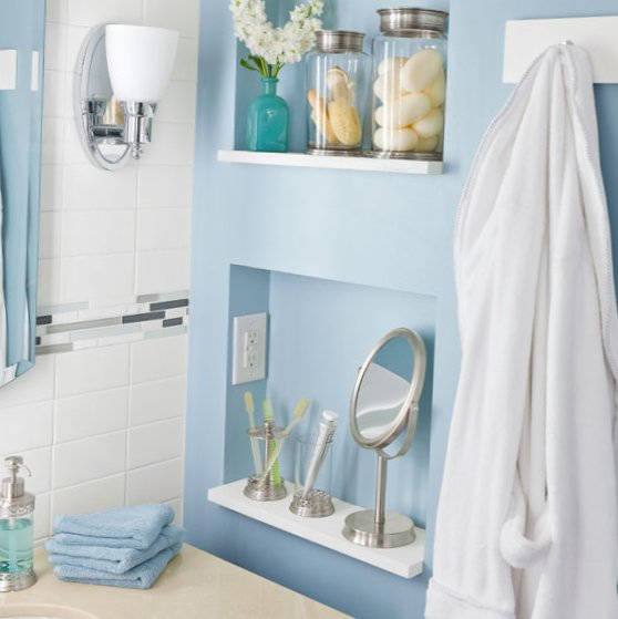 Tiny bathroom - whole room design look