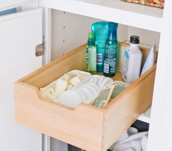 Tiny bathroom  - design ideas for shelves