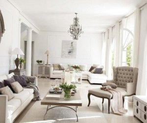 White interior design in Madrid