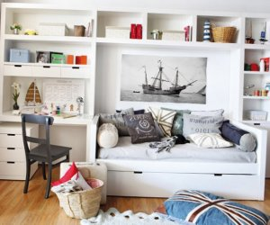 Beautiful kids room with sea concept