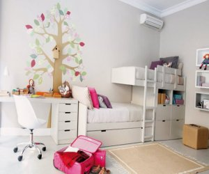 Bright kids room designed for two girls