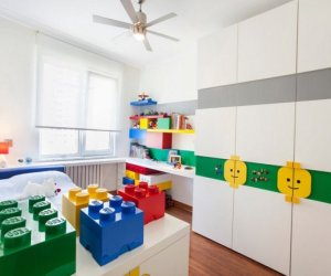 Kids room designed in Lego style