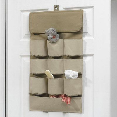 Curtain pockets and sections for storage