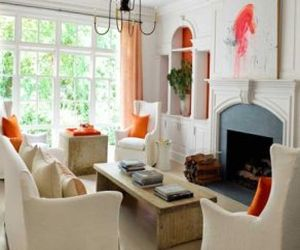 Orange tones in apartment decoration