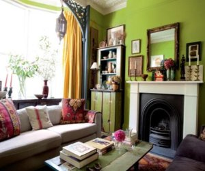 Pleasant green color in decoration