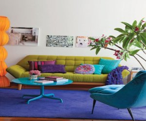 Small colourful apartment design