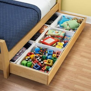 Storage for toys under the bed