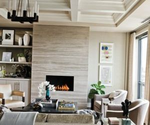 The interior design in beige tones