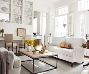 White color in the house design in USA