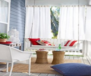 Set of pictures of wonderful verandas