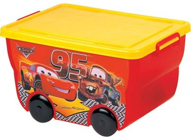 boxes with toys on wheels