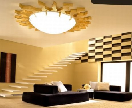 Ceiling designs for living room: tips, ideas and beautiful photos ...