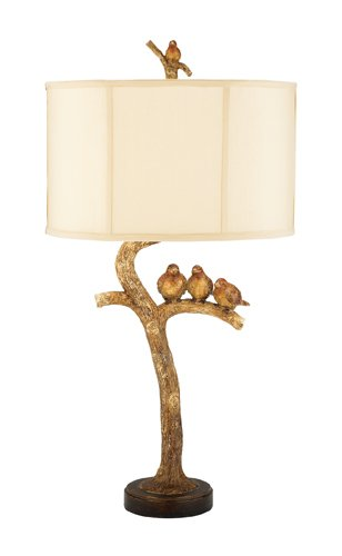 Shebby Chic Three Bird Table Lamp