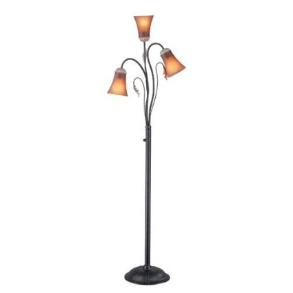 Wilford Collection Dark Bronze 3-Light Floor Lamp