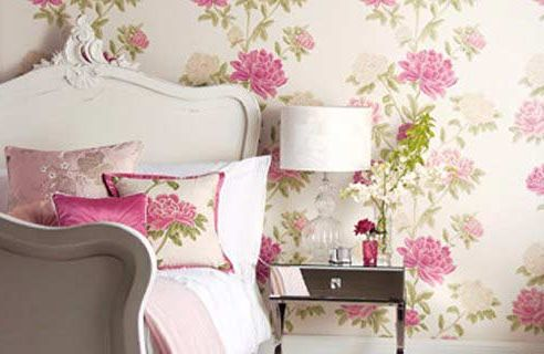 Teen Girl Floral Bedroom Idea top floral wallpaper for rooms