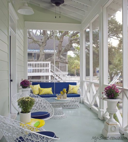 Veranda design tips and 70 photos of decorating ideas for Decoration veranda
