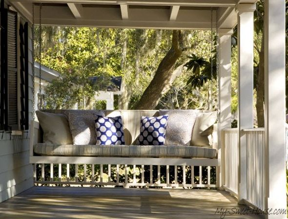 Veranda Design: Tips And 70+ Photos Of Decorating Ideas - My-Sweet