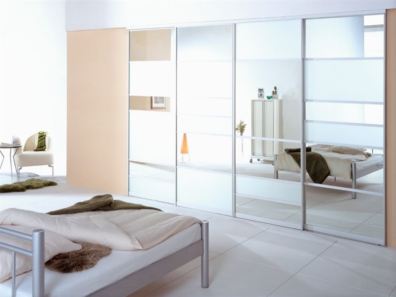 Modern Wardrobe With Mirrored Sliding Doors