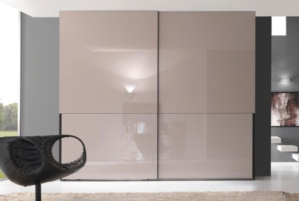 Modern Wardrobe With Sliding Doors with chic color and texture