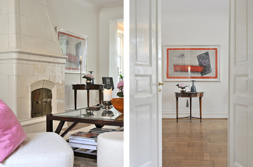 white interior design with art idea1